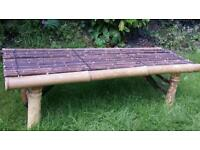 Bamboo low Bench from Thailand