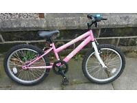 Girls Pink Bike with Helmet