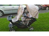 Graco twin pushchair