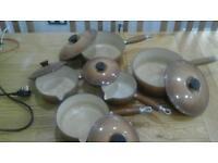 Set of Le Creuset pans