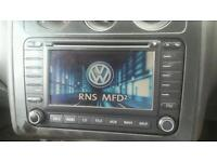 Genuine Double Din Stereo DVD SATNAV VW Golf Passat Touran Audi VW RNS MFD 2 1T0035194B