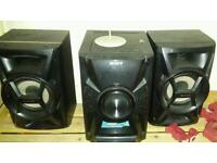 Song stereo and ipod dock with speakers