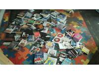 Aprox 180 cds,dvds and old BBC sitcom tapes