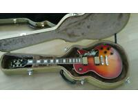 epiphone les paul aaa flame top custom upgraded and case