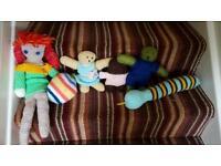 Crocheted teddies job lot