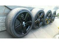 "18"" Audi S Line RS6 Alloys Ronal A3 A4 S4 A6 VW Golf Touran Seat Leon Black Edition Sportback"