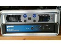 Prosound 800 and Gemini 750 amps with case