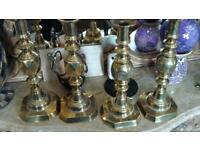 King of diamonds brass candle sticks