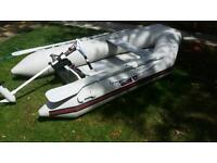 Inflatable dinghy / rib / boat with electric outboard motor