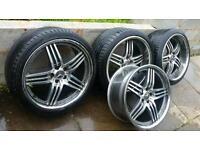 "20"" Mercedes AMG Brabus Style Diamond Cut Staggered Alloys... Fit B C E S Class CLK SL Also AUDI"