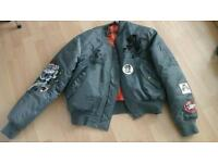 Ed hardy jacket embroidered and badged never worn large
