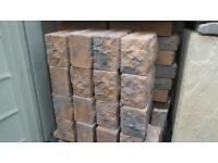 Walling brick, decorative.