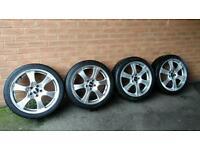 """18"""" alloy wheels & tyres 5x110 Vauxhall Saab 225/40/18"""