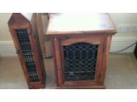C D cabinet with matching CD stack