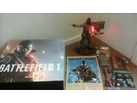 Battlefield 1 legacy edition with limited edition statue