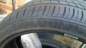 Part worn nearly new tyres