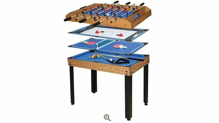 Debut 4 In 1 Games Table (Football, Pool, Air Hockey And Table Tennis