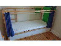Ikea Kura bed + extras
