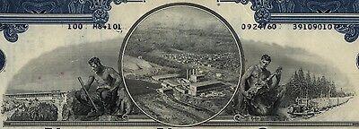Great Northern Nekoosa 3 Color Stock Certificate Set Maine Paper