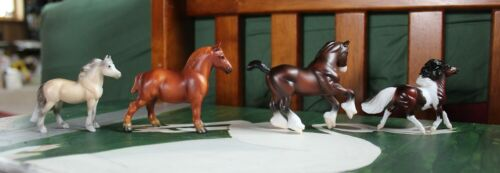 Breyer Best of British Pony and Draught Stablemates Set #9176 COMPLETE OOP