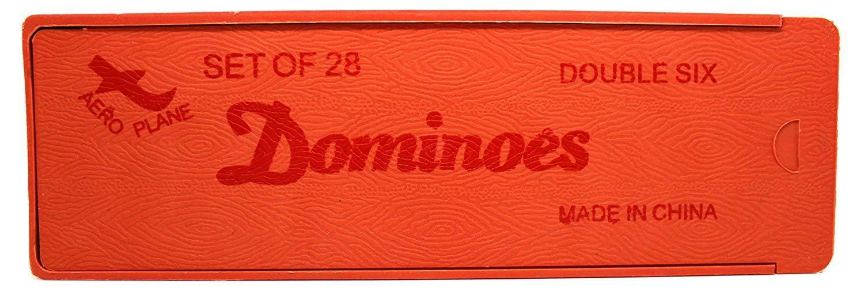 Kemket Double Six Dominoes Set in a Wooden Slide Lid Box