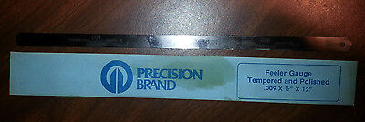 Precision Brand Feeler Gauge Tempered And Polished 12 X 12 X .009