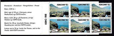 Färöer postfrisch 1993 Markenheft 6  Inhalt 3x MiNr. 246-247 NORDEN