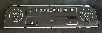 Instrument Panel Cluster Face Lens 1964-66 Chevy Pickup Truck w/warning lights