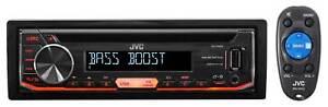 JVC KD-R490 Single-Din In Dash Car CD Receiver Stereo Radio w/ USB/AUX/AM/FM