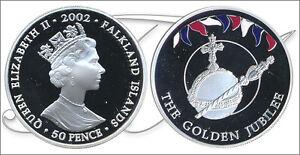 Falkland-Monedas-Conmemorativas-Ano-2002-numero-KM00079a-1-PROOF-50-Peni