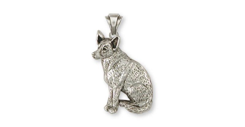 Australian Cattle Dog Pendant Jewelry Sterling Silver Handmade Dog Pendant ACD1-