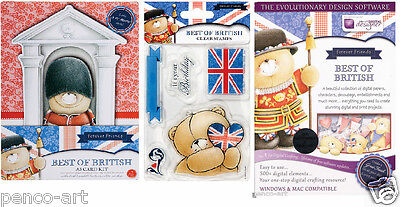 Papermania Forever Friends Best Of British DVD, with royal Card kit & stamp set