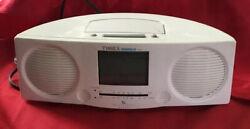 TIMEX Indiglo T466W Triple Alarm Clock Radio AM/FM Stereo Nature Sounds