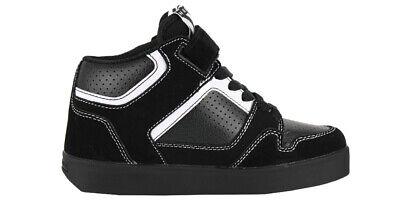HEELYS KID'S STRIPES #7928 YOUNG/BIG KID SKATE SHOE'S COLOR:BLACK/WHITE/GRAY