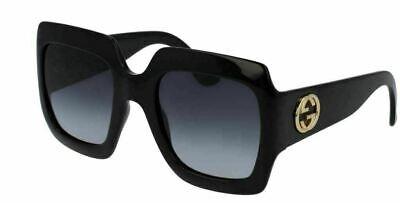 Authentic Gucci GG 0053 S 001 54mm Black square Oversized Sunglasses