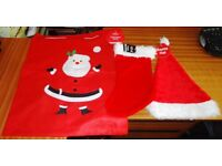 Christmas STOCKING / HAT / SACK x 24 PLUSH Red And White READY FOR NEXT XMAS New NOT USED