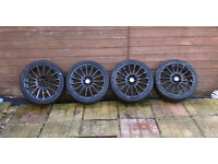 """17"""" ALLOY WHEELS WITH TYRES MULTI FITMENT FOR ALFA ROMEO CITROEN FIAT FORD PEUGEOT RENAULT VAUXHALL"""