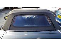 Mazda MX5 vinyl soft hood with heated rear window from an original mk 11