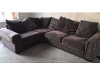 Suede Large Corner Sofa Very Soft Comfy Material Cushions Included Separates Into 3 Pieces Deliver