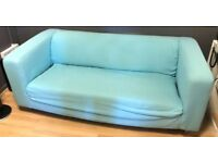 2 seater sofa - Ikea Klippan - blue (x2)