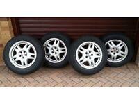 4 x Winter Tyres on Subaru Alloy Rims