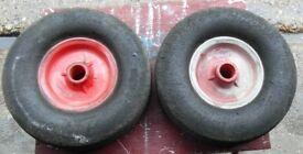 Launch Trolley Wheels . Solid. 10 inch x 2