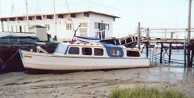 """Classic 30'Ex Police Boat """"TINTAGEL"""" Sleeps 4-5 in two cabins • All systems rebuilt 2008"""