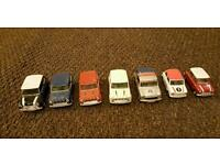 7 mini corgi car collection