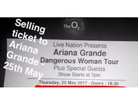 Selling Ariana Grande Ticket - London 25th May (INCREDIBLE VIEW)
