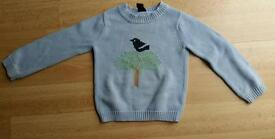 Lovely Gap Kids blue cotton jumper XS