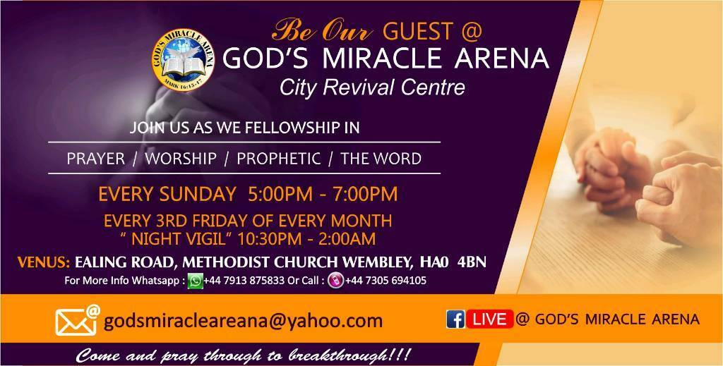 ARE YOU LOOKING FOR A PROPHETIC SPIRIT FILLED CHURCH? | in Wembley