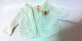 Newborn baby knitted sweater with a bear 0-3 months