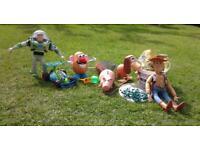 90s Toy Story figures Buzz Lightyear- Woody-RC-Mr Potato Head-Slinky-Ham-Bucket o Soldiers