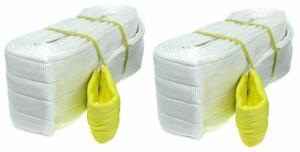 NEW 150,000 LB TOW STRAPS RECOVERY 12 INCH 30 FT  FOR COMBINES, TRACTORS AND FARM USE